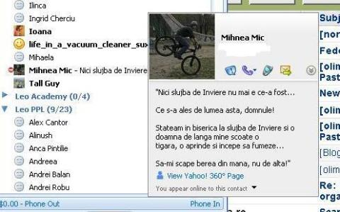 Status message Mihnea Mic